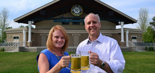 Rotarians Bill Jerrow and Michele Whelchel came up with the idea of Fishers on Tap three years ago. It now raises $20,000 per year which is do- nated to nonprofit organizations in the community. (Photo by John Cinnamon)