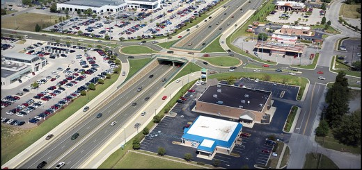 For Fishers - Rendering 126th Street – The intersections on Ind. 37 like 126th Street would be changed to roundabout interchanges in a $243 million proposed project to relieve traffic congestion. (Submitted rendering)