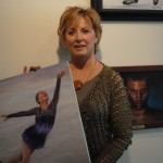 Carmel artist Donna Carr recently trav- eled to Sochi, Russia, for the Winter Olympics where she captured plenty of stories in her new exhibit of paintings. (Staff photo)