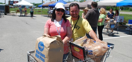Christina and Don Stilts will host their next community pantry for those in need from 1 to 3 p.m. July 19 at Ameriana Bank, 3333 Ind. 32, Westfield. (Photo by Robert Herrington)