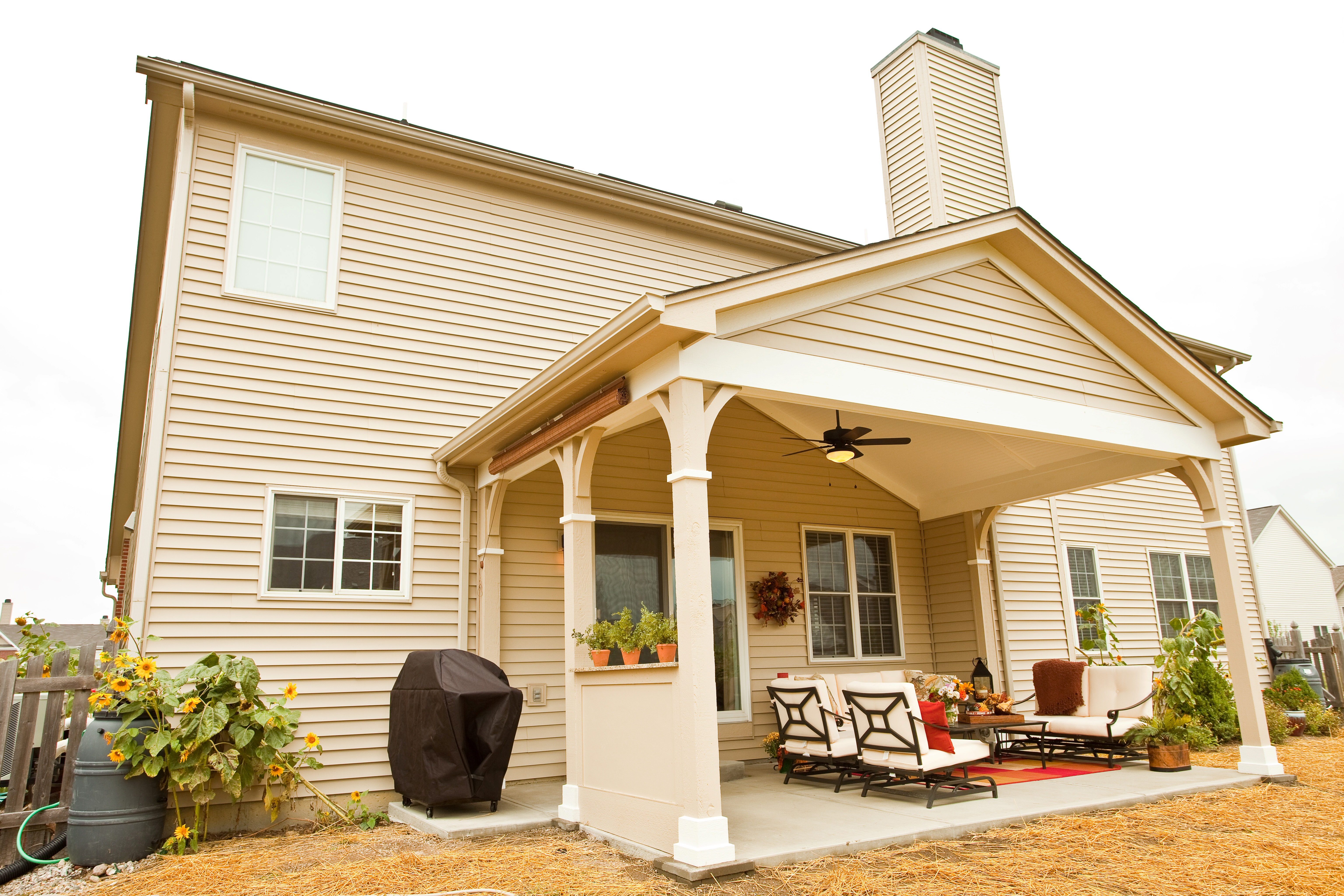 Porch Vs Deck Which Is The More Befitting For Your Home: Column: Covered Porch Gives Family Their Backyard Back