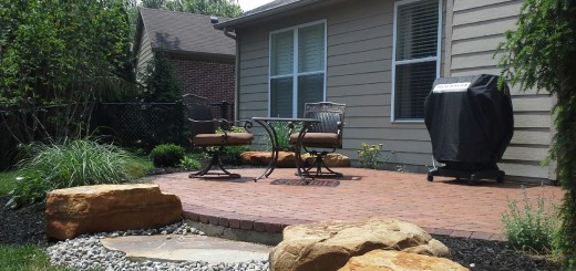 Clay pavers are a preferred material because of their rich texture and color and it marries well with the natural boulder clusters that define the beds and helps to transition the grade. (Submitted photo)