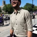 """The Voice"" winner Josh Kaufman was clearly happy to be back home in Indianapolis and serve as Grand Marshal for the Indianapolis 500 Parade. (Staff photo by Tonya Burton)"