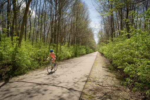 The section of the Monon Trail trail between 96th Street and Carmel Drive will likely be repaved in 2015. (Staff photo by Sara Crawford)