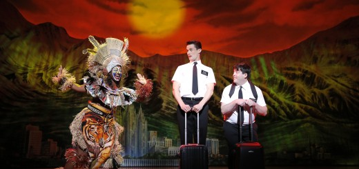 "Phyre Hawkins, Mark Evans and Christopher John O'Neill star in ""The Book of Mormon."" (Submitted photo by Joan Marcus)"