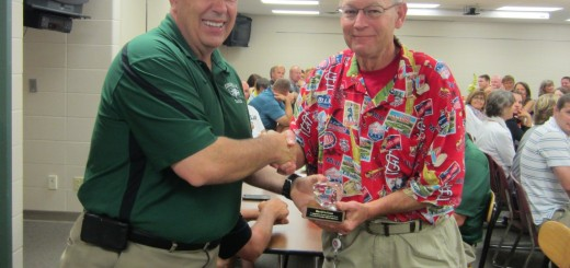 ZCHS social studies teacher, Dave Sollman, retires after nearly 23 years of teaching.Principal Tim East presented Dave with his award at the teacher breakfast on June 2.