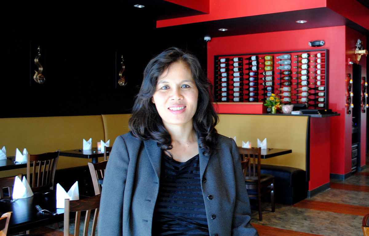 Pad Thai owner Kanlaya Browning opened a new Thai restaurant in Sophia Square facing the Monon Trail. (Staff photo)