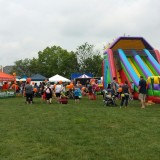 G.I.V.E members sponsored a bouncy house at the recent Fishers Freedom Festival and raised $5,500 for charity. (Submitted photo)