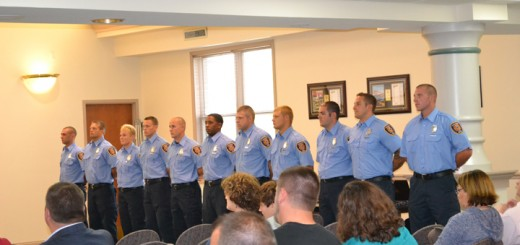 Fishers newest firefighters are introduced during the July 7 Town Council meeting