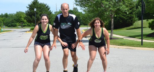 Melanie, Ron and Ann Eich of Fishers. The family members are all active in the Circle City Derby Girls which calls the Forum in Fishers home.
