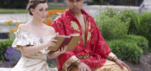 "Aaron Huey of Cardinal Ritter and Elizabeth Hutson of Crawfordsville play the lead roles of the King of Siam and Anna, respectively, in the Summer Stock Stage production of ""The King and I."" (Submitted photo)"