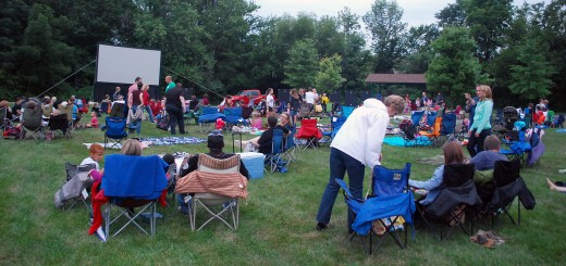 "Community members prepare their seats and await the start of ""Brave"" at Asa Bales Park during last year's inaugural movie series kickoff. (File photo by Robert Herrington)"