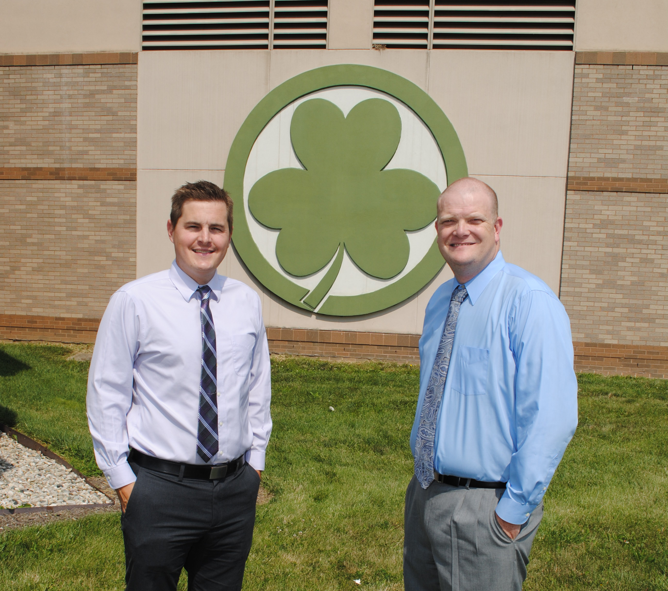Ryan Haughey, left, and Corey Hartley have each taught and served as  assistant principal