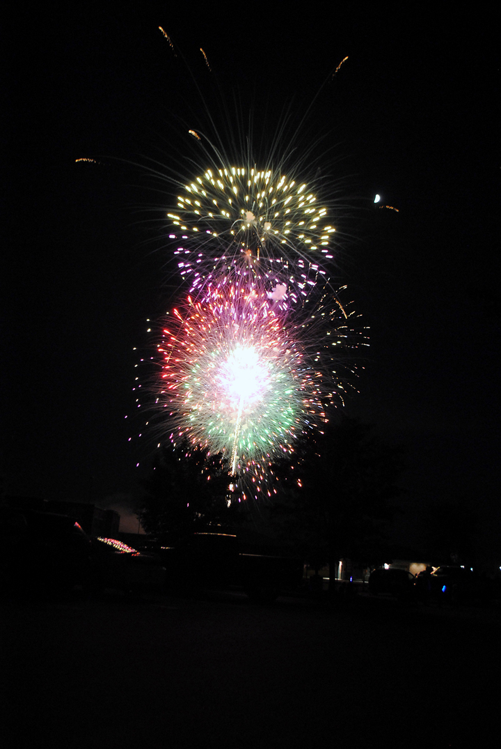 The fireworks display, which was set to music heard in Asa Bales Park, culminated the Westfield Rocks the Fourth event. (Photo by Robert Herrington)