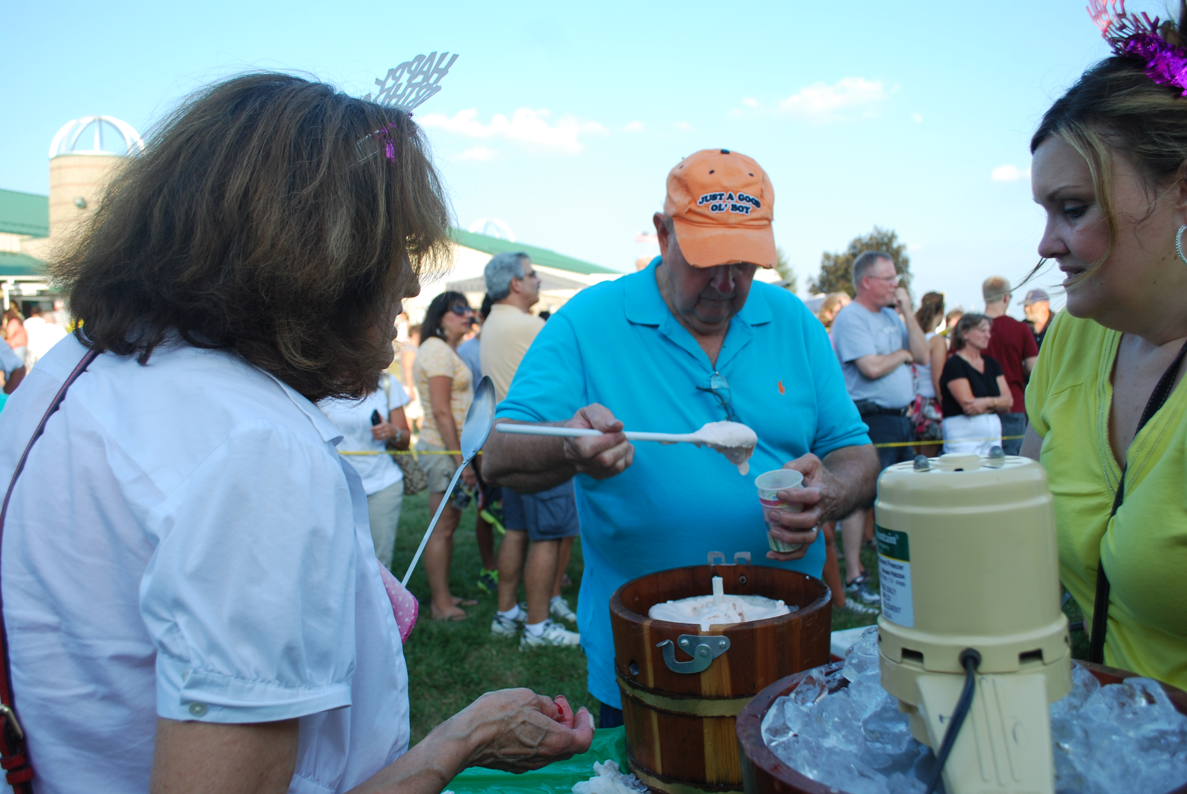 Dotty and Chuck McMillian competed in their 25th Homemade Ice Cream Contest at the Hamilton County 4-H Fair last year. (File photo)