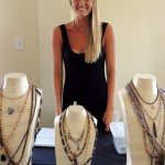 Kimmy Hetzner of Carmel sold trendy jewelry from J. Nicole at the Love Local event. (Staff photo by Tonya Burton)