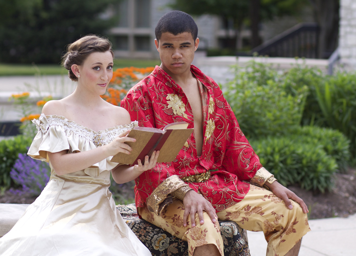"Aaron Huey and Elizabeth Hutson play the King and Anna in the ""The King and I."" (Submitted photo)"
