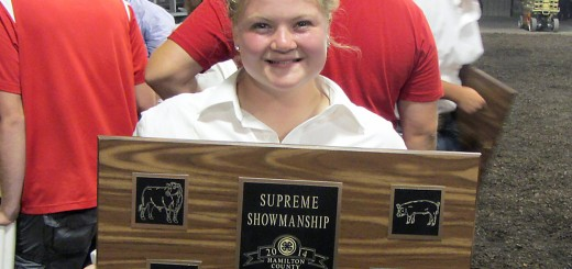 Staying calm is 2014 4-H Supreme Showmanship winner Kelsie Waitt's best advice to