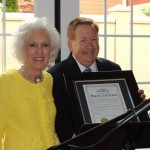 "Carmel Mayor Jim Brainard presented Lorene Burkhart with a certificate proclaiming July 11th as ""Lorene Burkhart Day"" in the City of Carmel. (Staff photo by Tonya Burton)"