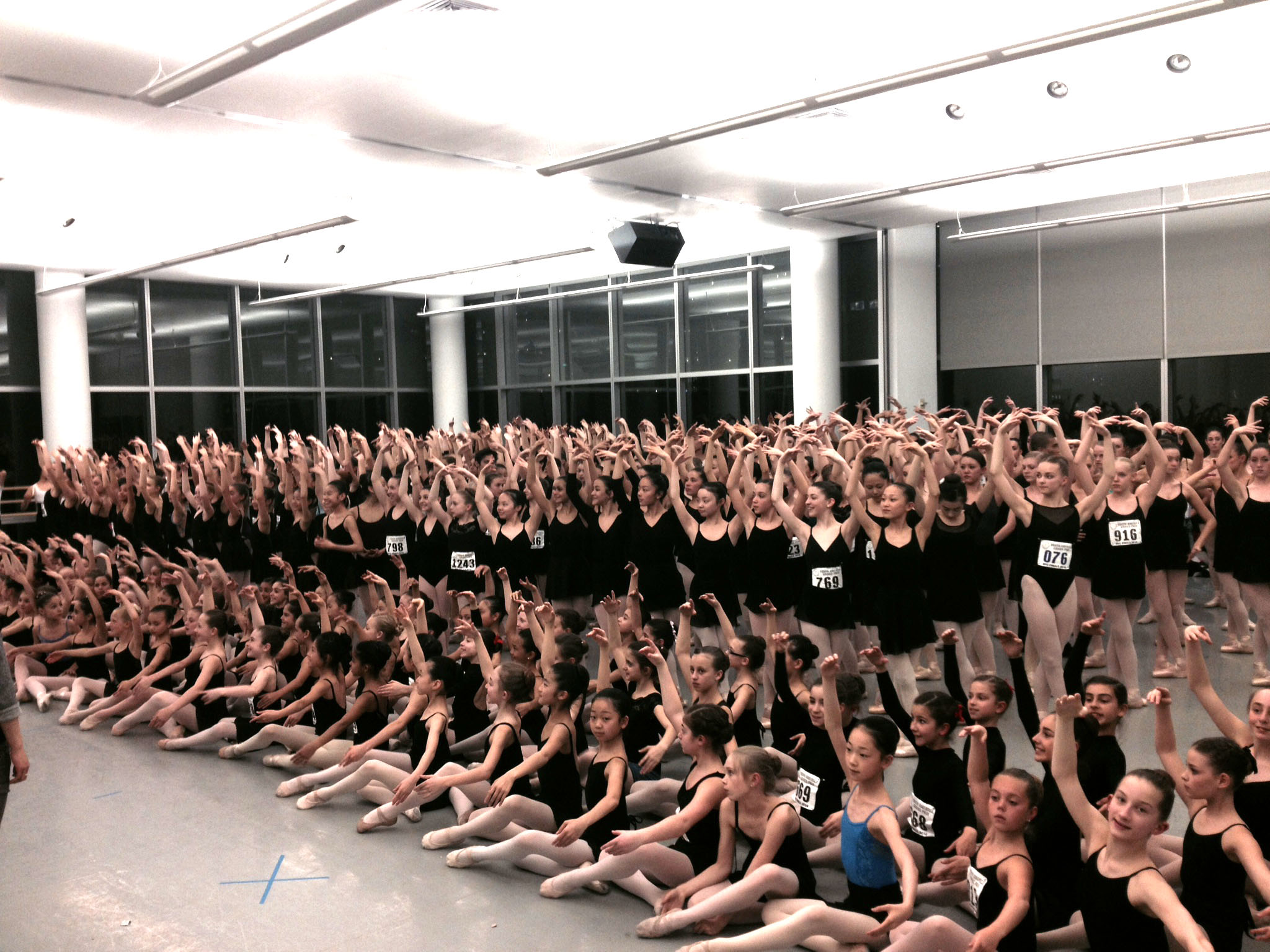 Rehearsal in Alvin Ailey studios in New York City. (Submitted photo)