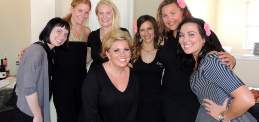 The staff of the Beauty Lounge are, back row from left. Mel Ralston, Kirsten Feradrou, owner Eva Harris, Alicia Montana, Andrea Bradford and Crystal Harpring. Allysha Conwell in in the front center. (Staff photo by Tonya Burton)
