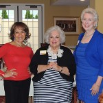 From left, TV personality and civil rights activist Alpha Blackburn, Indianapolis fashion aficionado Elizabeth Taylor and Pat Watchel, CEO of Girls, Inc. joined Lorene Burkhart for her birthday celebration. (Staff photo by Tonya Burton)