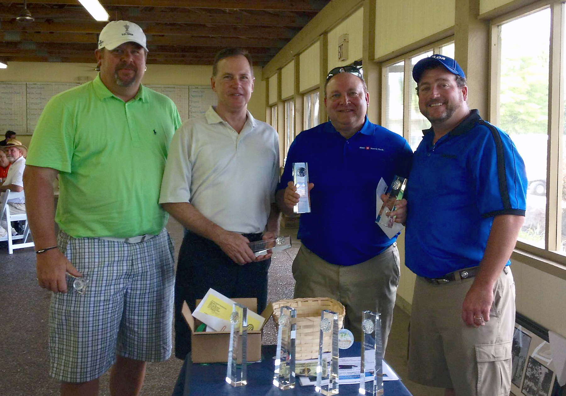 From left: Mark Bilger, John Kirkwood, Greg O'Connor and Chuck Goodrich, Riverview Hospital Foundation Board Chair. Mark Midkiff also was on the second place BMO Harris team, but not in the picture. (Submitted photo)