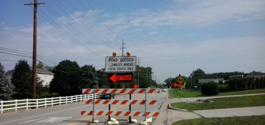 Cumberland Road will remain closed between 106th and 116th streets until Oct. 25. (Photo by Ann Craig-Cinnamon)