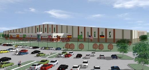 Plans for a new indoor soccer facility were unveiled at the Grand Park Grand Opening on June 21. (Submitted rendering)