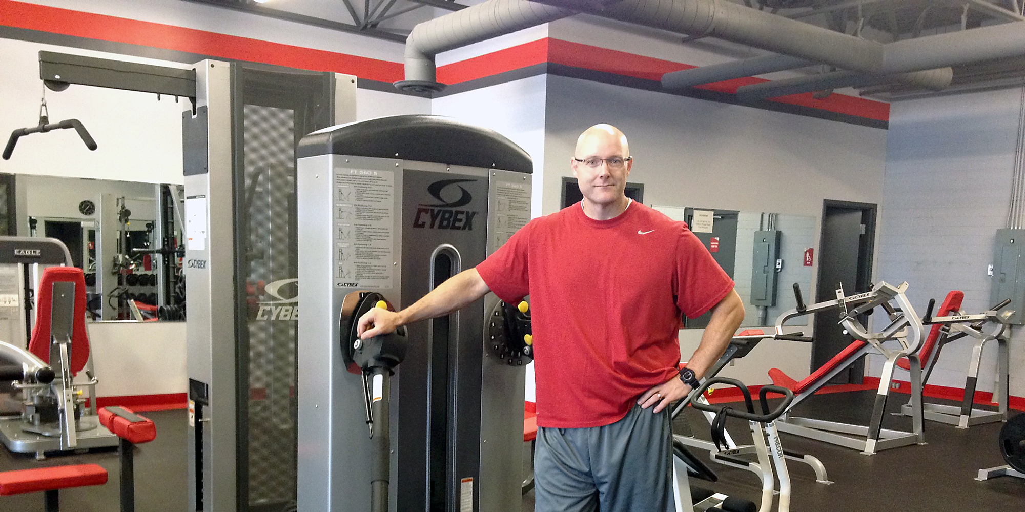 Westfield resident and personal trainer Doug Biggs opened Snap Fitness to offer 24/7 access to members to workout whenever their schedules allow. (Photo by Brianna Susnak)