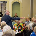 Henry Winkler gives an animated and-passionate presentation at The Barrington