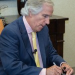 Henry Winkler signs copies of his books for guests at The Barrington