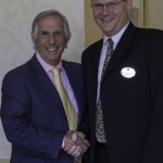 Henry Winkler with The Barringtons executive director Troy Cannady