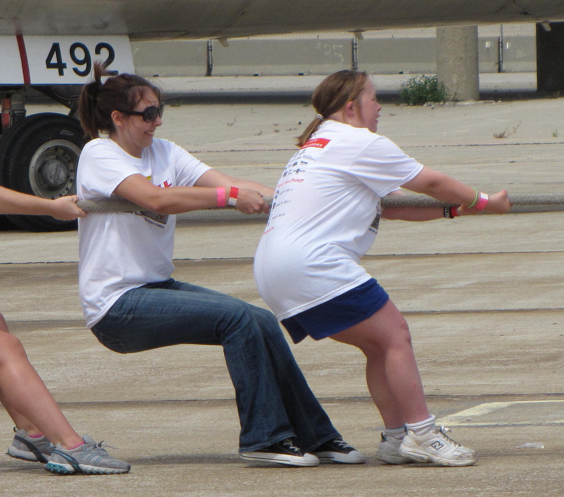Challengers pull a FedEx plane during last year's event. (Submitted photo)