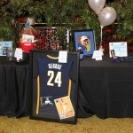 A Paul George jersey was one of the numerous items being auctioned off at the event.