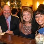 From left: Don Kuebler, Ann Kotz and Laura Kuebler from Indianapolis enjoy each other's company during cocktail hour.