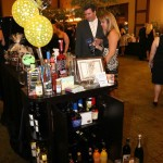 Jason and Amy Stewart take a look at some of the items available during the auction.
