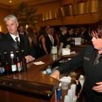 Lisa and Max Price of Carmel order drinks from bartender Lauren Webber.