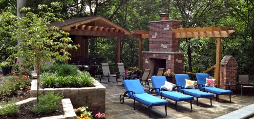 Shady pockets allow ornamental dogwood and redbud tree inserts to offer hints of interior bulk and spring inspiration. This created the appropriate separation between the lanais, fireplace, pool and grill station patios.