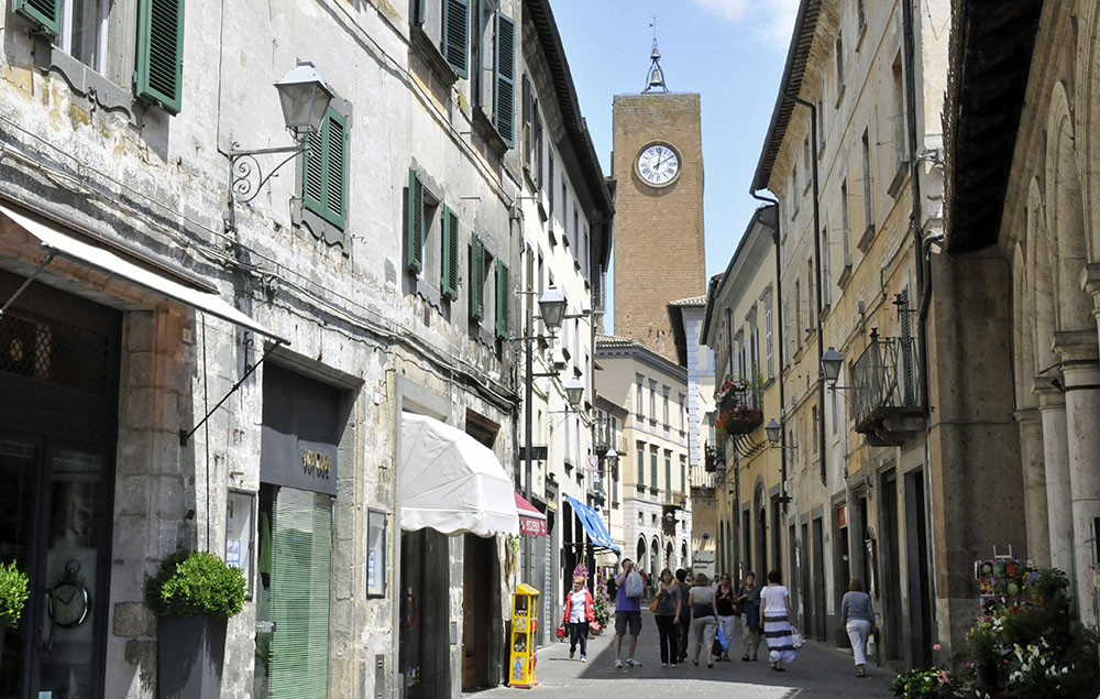 Thirteenth-century Clock Tower in Orvieto, Italy. (Photo by Don Knebel)