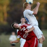 Kyle VanDeLaarschot in action at the 2013 CHS Boys varsity soccer game against Pike High School (Photo by Jerry Seiler)