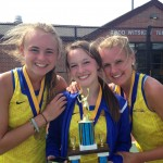 2014 State singles champions after sectionals. Zoe Woods is flanked by Lauren Padgett (left) and right, sister, Bailey Padgett. (Submitted photo)