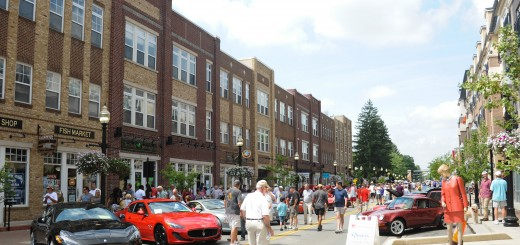 Visitors and residents fill Main Street for the 2014 Carmel Artomobilia event.