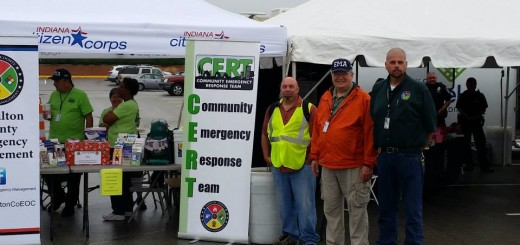 Members of the FEMA CERT team in Carmel help to raise awareness during their neighborhood crime watch programs. (Submitted photo)