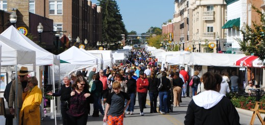 Patrons walk downtown Carmel during last year's Carmel International Arts Festival. (File photo)