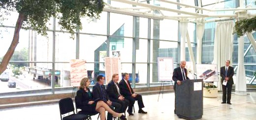 Westfield Mayor Andy Cook and other Central Indiana leaders make the IndyGo transit announcement of the Red Line on Sept. 17. (Submitted photo)