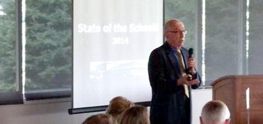 """Supt. Dr. Mark Keen delivers his annual """"State of the Schools"""" speech to the Westfield Chamber of Commerce on Aug. 21. (Submitted photo)"""