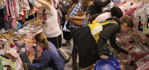 Shoppers at the spring Indy Kids Sale take advantage of the sale prices at the Hamilton County 4-H Fairgrounds in Noblesville. (Submitted photo)
