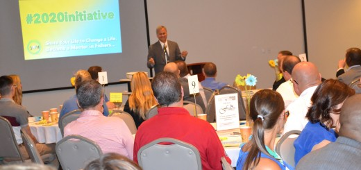 State Senator Jim Merritt address a Youth Mentoring Initiative breakfast Sept. 4.  The breakfast was held to raise funds for the program's new 2020 initiative.