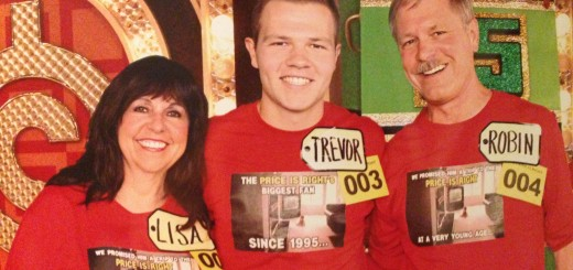 "Lisa and Robin Peters kept their promise to their son, Trevor (center) that they made when he was a child. Trevor Peters became a contestant on ""The Price is Right"" after watching since 1995. (Submitted photo)"